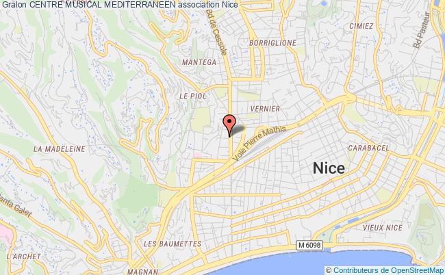 plan association Centre Musical Mediterraneen