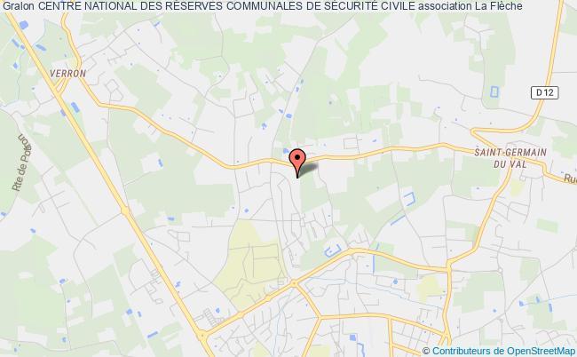 plan association Centre National Des RÉserves Communales De SÉcuritÉ Civile Flèche