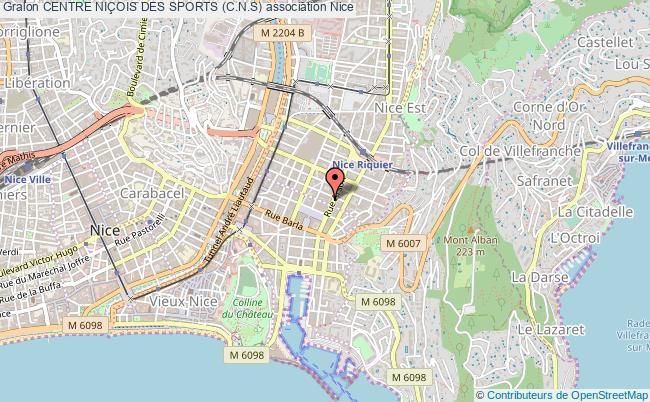 plan association Centre NiÇois Des Sports (c.n.s)