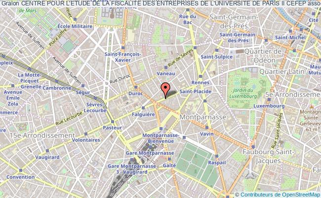plan association Centre Pour L'etude De La Fiscalite Des Entreprises De L'universite De Paris Ii Cefep Paris