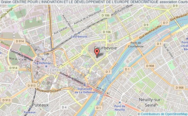 plan association Centre Pour L'innovation Et Le DÉveloppement De L'europe DÉmocratique Courbevoie