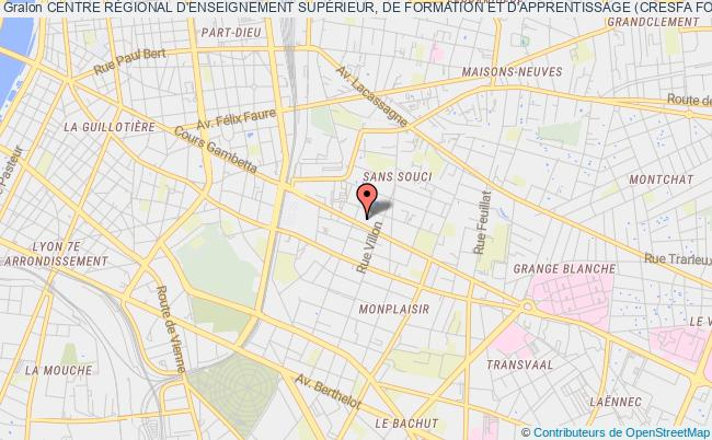 plan association Centre RÉgional D'enseignement SupÉrieur, De Formation Et D'apprentissage (cresfa Formation)