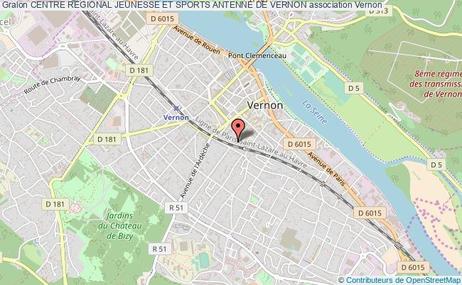 plan association Centre Regional Jeunesse Et Sports Antenne De Vernon