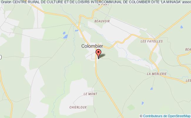 plan association Centre Rural De Culture Et De Loisirs Intercommunal De Colombier Dite 'la Minaga'