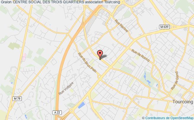 plan association Centre Social Des Trois Quartiers