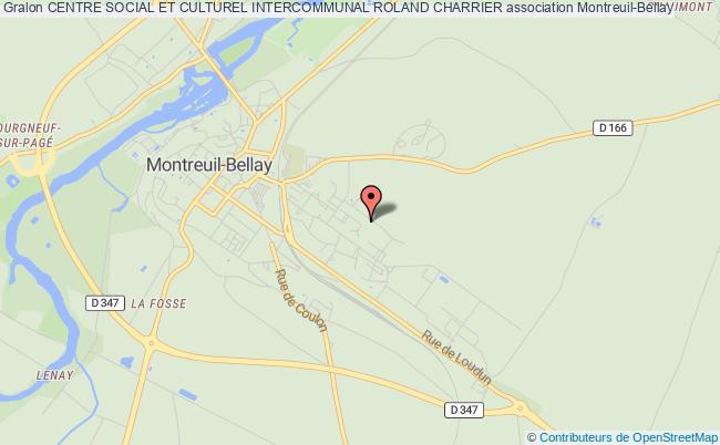 plan association Centre Social Et Culturel Intercommunal Roland Charrier Montreuil-Bellay