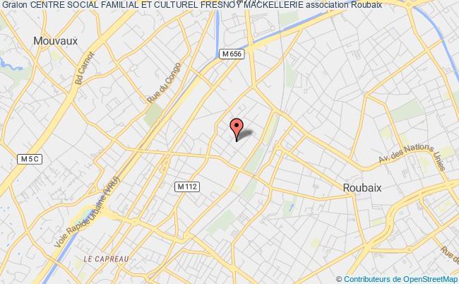 plan association Centre Social Familial Et Culturel Fresnoy Mackellerie