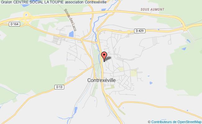 plan association Centre Social La Toupie Contrexéville