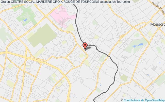 plan association Centre Social Marliere Croix Rouge De Tourcoing Tourcoing
