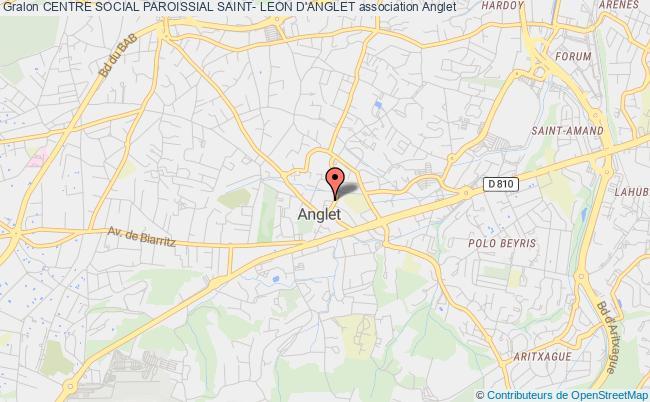 plan association Centre Social Paroissial Saint- Leon D'anglet