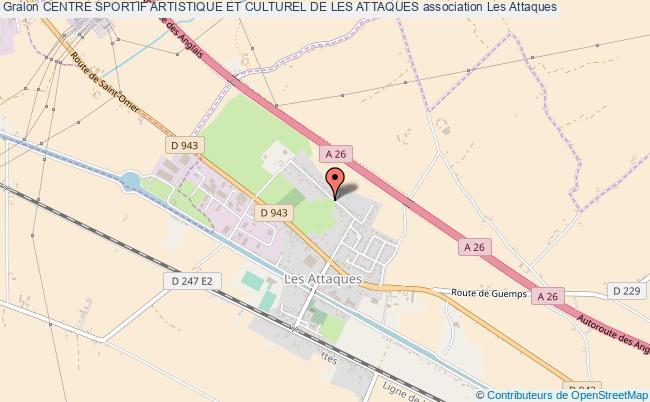 plan association Centre Sportif Artistique Et Culturel De Les Attaques