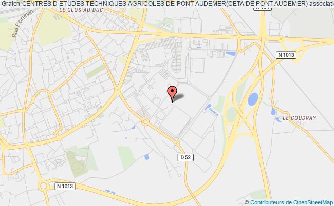 plan association Centres D Etudes Techniques Agricoles De Pont Audemer(ceta De Pont Audemer)