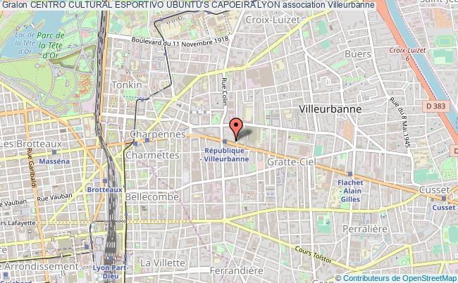 plan association Centro Cultural Esportivo Ubuntu's Capoeira Lyon