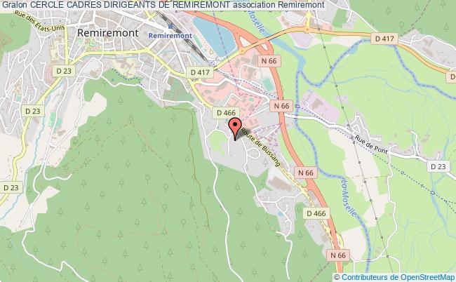 plan association Cercle Cadres Dirigeants De Remiremont Remiremont