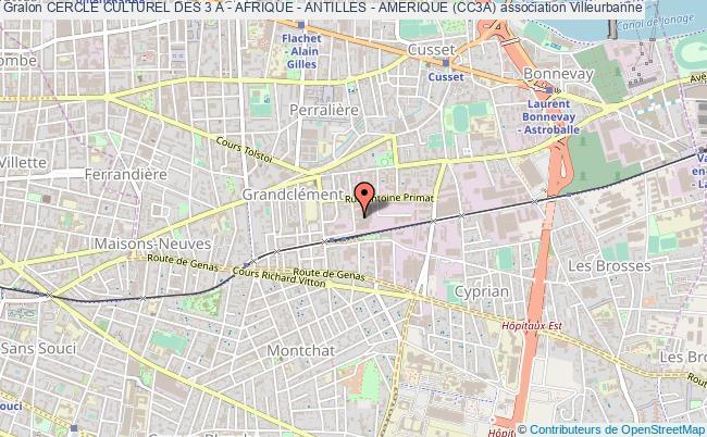 plan association Cercle Culturel Des 3 A - Afrique - Antilles - Amerique (cc3a)