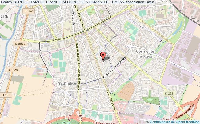 plan association Cercle D'amitiÉ France-algÉrie De Normandie - Cafan
