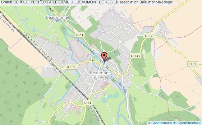 plan association Cercle D'echecs Aile-dame De Beaumont Le Roger