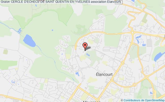plan association Cercle D'echecs De Saint Quentin En Yvelines Élancourt