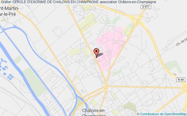 plan association Cercle D'escrime De Chalons En Champagne