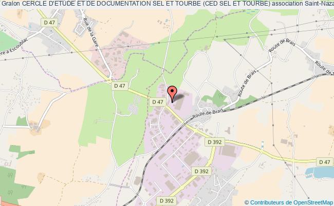 plan association Cercle D'etude Et De Documentation Sel Et Tourbe (ced Sel Et Tourbe)