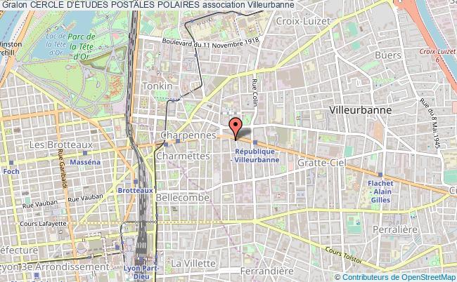 plan association Cercle D'Études Postales Polaires