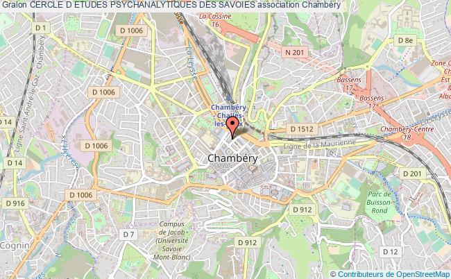 plan association Cercle D Etudes Psychanalytiques Des Savoies