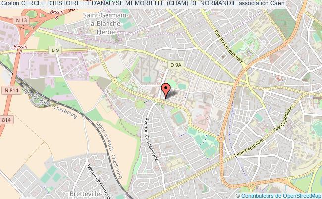 plan association Cercle D'histoire Et D'analyse Memorielle (cham) De Normandie