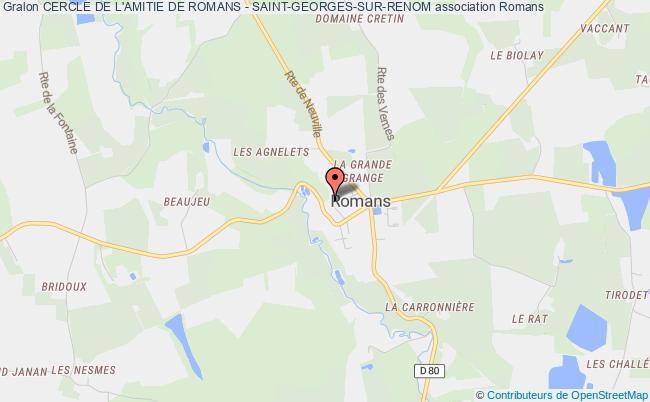 plan association Cercle De L'amitie De Romans - Saint-georges-sur-renom Romans
