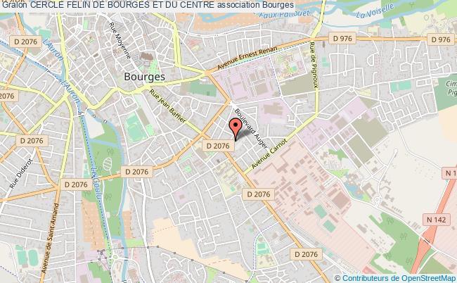plan association Cercle Felin De Bourges Et Du Centre Bourges