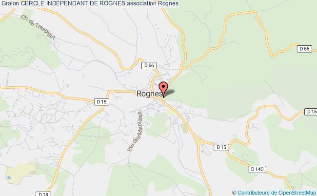 plan association Cercle IndÉpendant De Rognes
