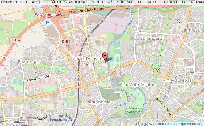 plan association Cercle Jacques Cartier - Association Des Professionnels Du Haut De Bilan Et De La Transmission D'entreprises De Bretagne Rennes