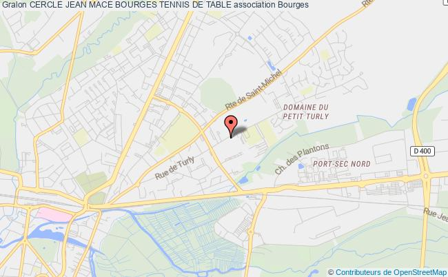 plan association Cercle Jean Mace Bourges Tennis De Table Bourges