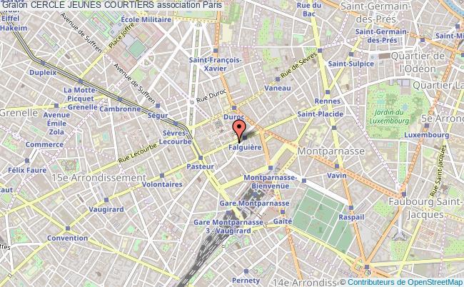 plan association Cercle Jeunes Courtiers Paris