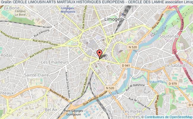 plan association Cercle Limousin Arts Martiaux Historiques EuropÉens - Cercle Des Lamhe