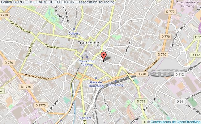 plan association Cercle Militaire De Tourcoing