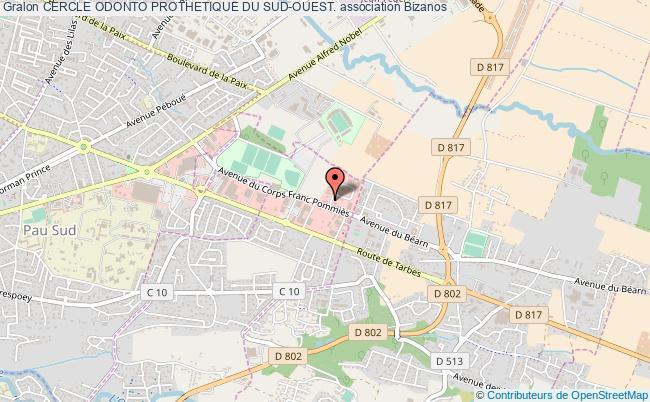 plan association Cercle Odonto Prothetique Du Sud-ouest. Bizanos