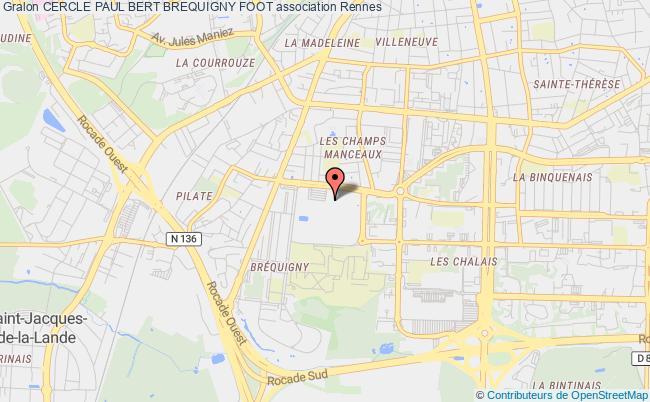 plan association Cercle Paul Bert Brequigny Foot