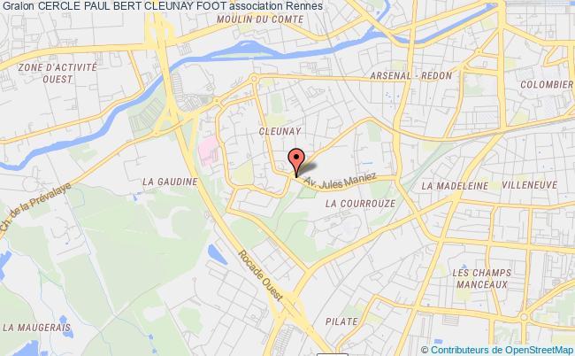 plan association Cercle Paul Bert Cleunay Foot