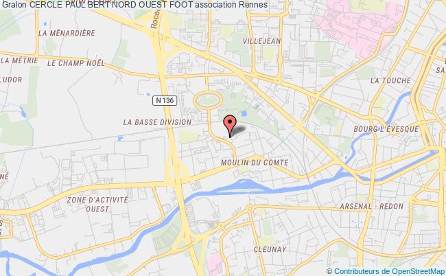 plan association Cercle Paul Bert Nord Ouest Foot
