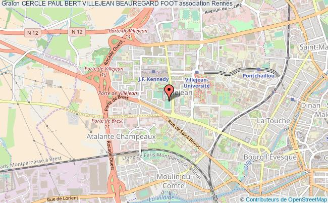 plan association Cercle Paul Bert Villejean Beauregard Foot