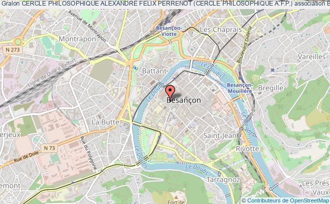 plan association Cercle Philosophique Alexandre Felix Perrenot (cercle Philosophique A.f.p.)