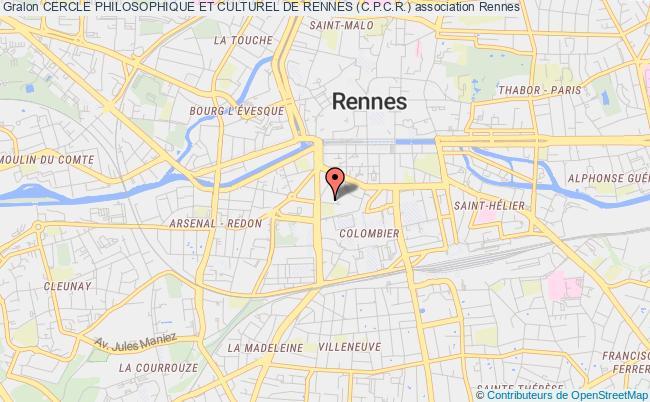 plan association Cercle Philosophique Et Culturel De Rennes (c.p.c.r.)