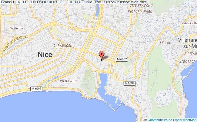 plan association Cercle Philosophique Et Culturel Imagination 5972 Nice