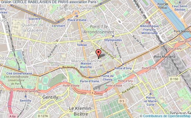 plan association Cercle Rabelaisien De Paris