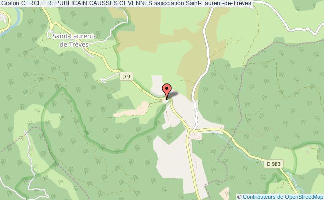 plan association Cercle RÉpublicain Causses CÉvennes Saint-Laurent-de-Trèves