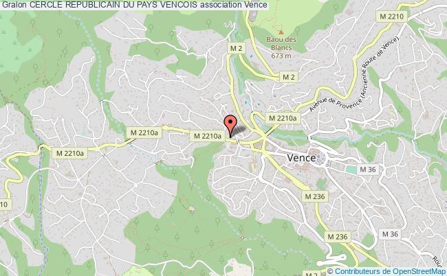 plan association Cercle Republicain Du Pays Vencois