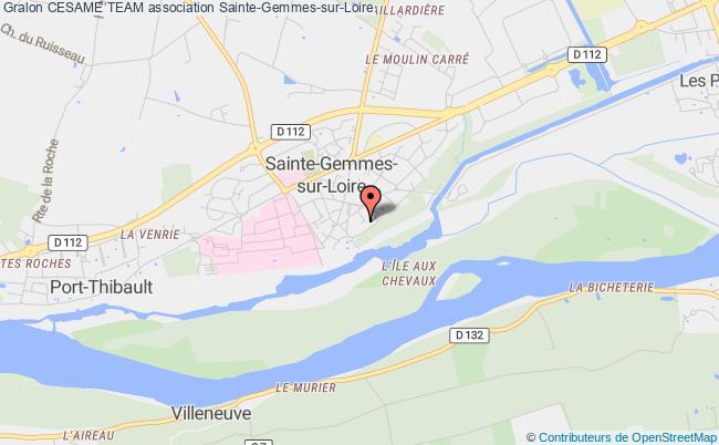 plan association Cesame Team Sainte-Gemmes-sur-Loire