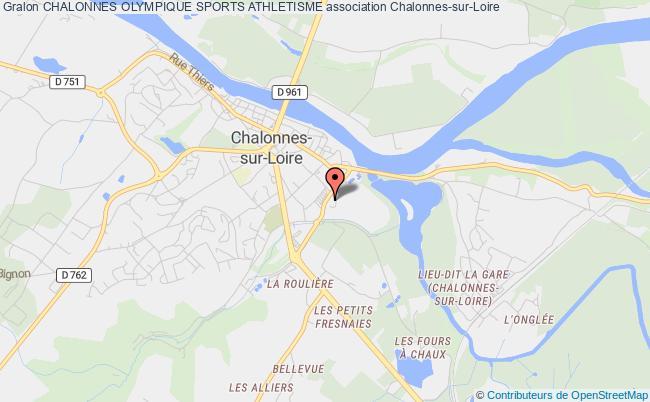 plan association Chalonnes Olympique Sports Athletisme Chalonnes-sur-Loire