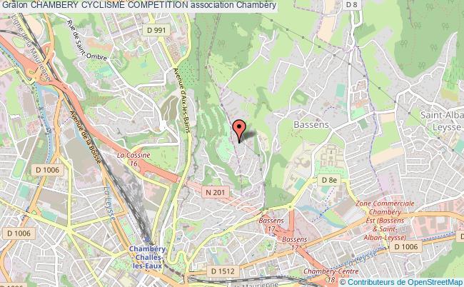 plan association Chambery Cyclisme Competition