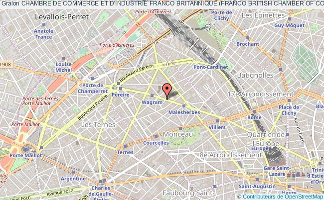 plan association Chambre De Commerce Et D'industrie Franco Britannique (franco British Chamber Of Commerce And Industry) Paris